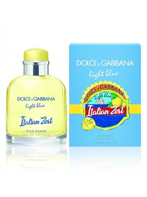 DOLCE & GABBANA LIGHT BLUE POUR HOMME ITALIAN ZEST EDT 125ML