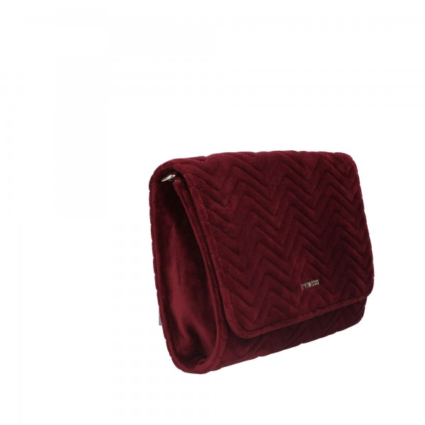 BORSA TWIN-SET TRACOLLA VELLUTO BORDEAUX